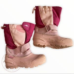 Tundra Girls Pink Snow Boots Size 13